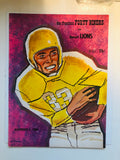 1960 football game program 49ers vs Lions