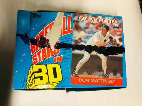 1986 Topps 3-D Baseball cards box