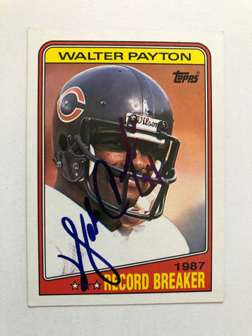 Walter Payton rare signed football card with COA