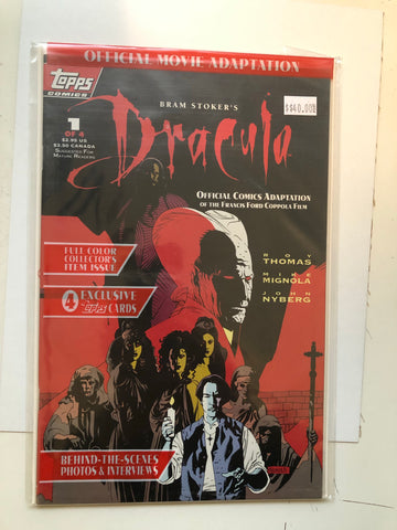 Dracula Topps #1 comic book factory bag sealed with 4 bonus cards 1992