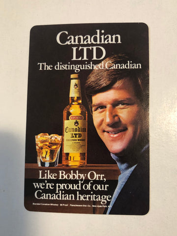 Bobby Orr rare whiskey playing card 1971