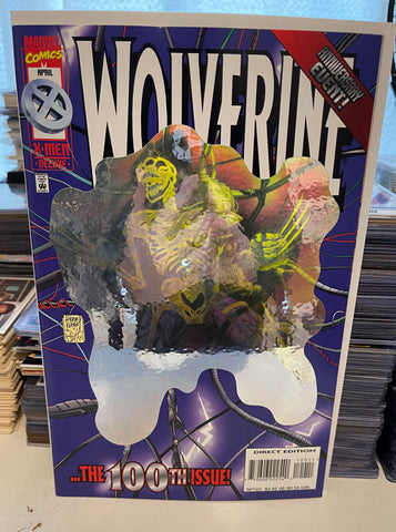 Wolverine 100 Hologram cover VF/NM condition 1996