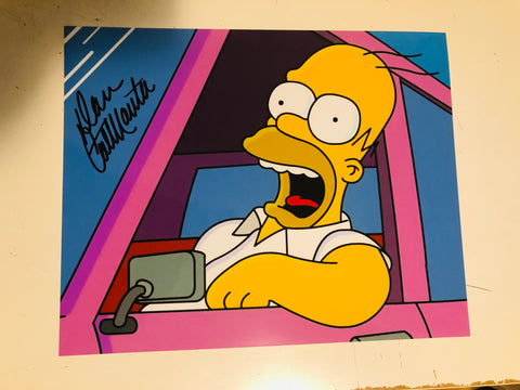 The Simpsons Homer ( Dan Castellaneta) voice actor signed photo with COA