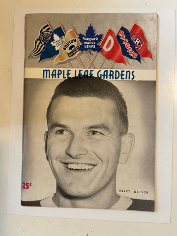 Toronto Maple Leafs hockey game program Feb.7, 1953