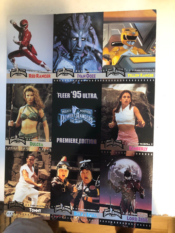 Power Rangers Fleer ultra uncut cards sheet 1990s
