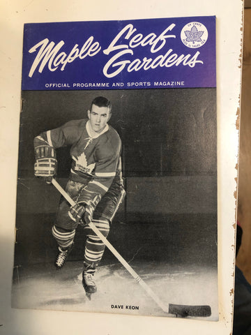 1963 Toronto Maple Leafs original hockey game program feb.9