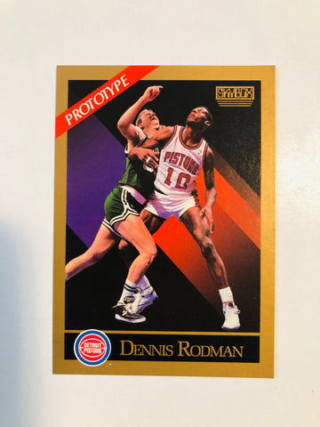 Dennis Rodman Skybox basketball rare limited issue promo card 1990