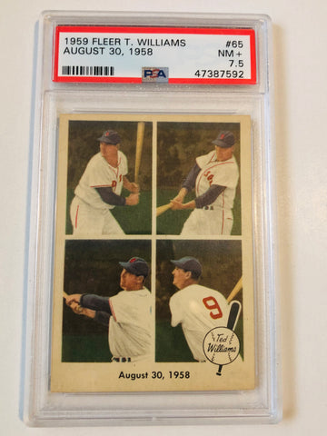 1959 Fleer Ted Williams PSA 7.5 graded baseball card