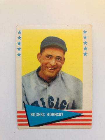 1961 Fleer Roger Hornsby high grade baseball card
