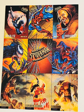 Fleer Ultra Spider-Man rare uncut cards sheet 1995