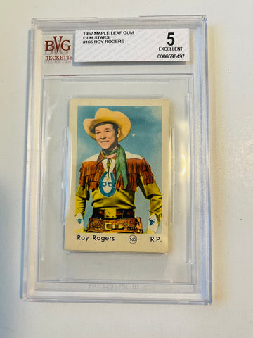 Roy Rogers rare Maple Leaf Gum Beckett grade 5 card 1952