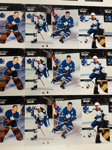 Toronto Maple Leafs hockey rare Bell Mobility uncut hockey cards sheet 1996