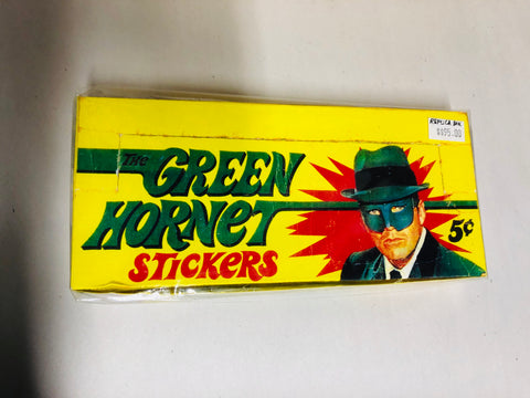 Green Hornet TV show rare replica stickers empty display box