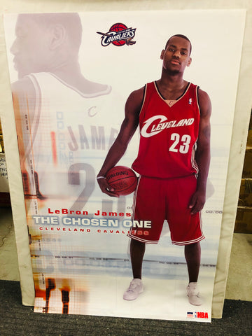 LeBron James The Chose One rare original rookie vintage poster 2003