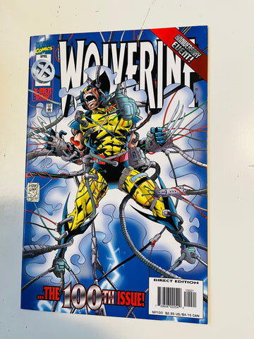Wolverine 100 comic book Vf/nm 1996