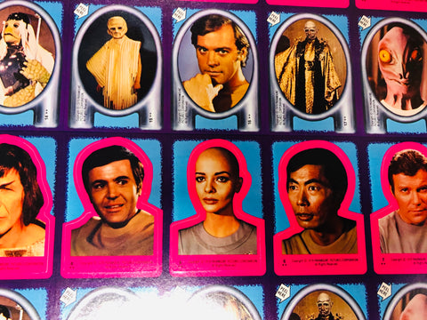1979 Star Trek movie stickers uncut sheet