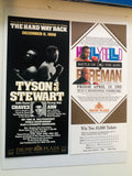 Tyson , Foreman, Holyfield two original boxing flyers 1990