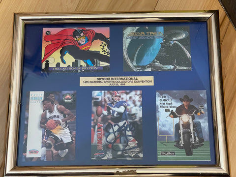 Jim Kelly National convention rare framed autograph card with other rare cards1993