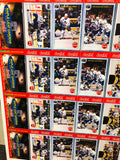 Toronto Maple Leafs Becker's milk store rare uncut hockey cards sheet 1990s