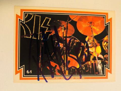 Kiss rock band rare Peter Criss signed card with COA