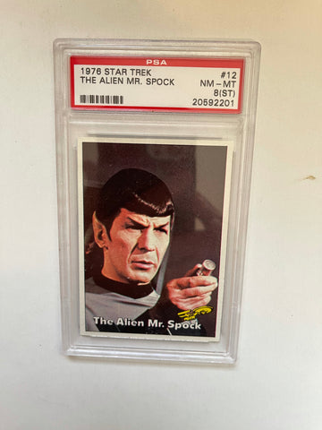 Star Trek The Alien Mr.Spock PSA 8 high grade card  1976