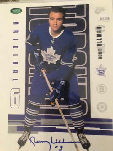 Toronto Maple Leafs Norm Ullman signed photo with COA