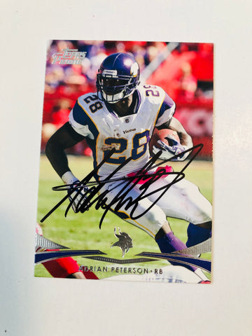 Adrian Peterson rare signed football card with COA
