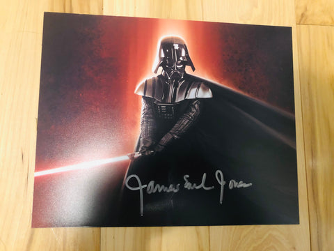 Star Wars James Earl Jones Darth Vader autograph photo with COA