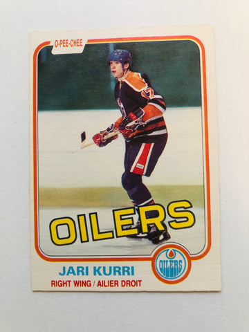 Jarri Kurri NHL hockey legend opc rookie card