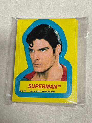 Superman 2 movie stickers rare set 1980