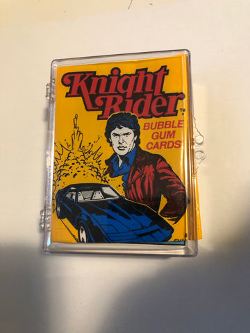 Knight Rider TV show cards plus wrapper set