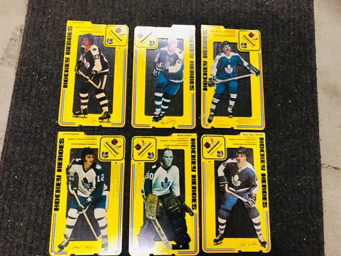 1975 Toronto Maple Leafs hockey Heroes 6 stand-ups rare set