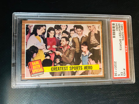 Babe Ruth Topps PSA graded baseball card 1962