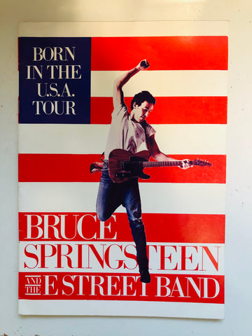 Bruce Springsteen Born in the USA concert program 1984