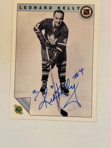 Red Kelly Toronto Maple Leafs autograph hockey card with COA