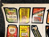1987 O-Pee-chee Wacky Packages rare uncut stickers sheet