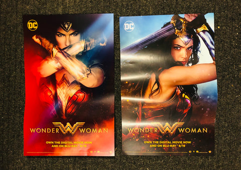 Wonder Woman rare limited issue DVD two posters 2017