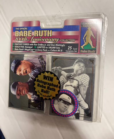 Babe Ruth baseball 100 anniversary collection factory cards set 1995