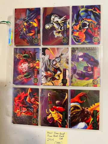 Fleer Flair Annual Marvel power blast insert set 1-24 from 1995