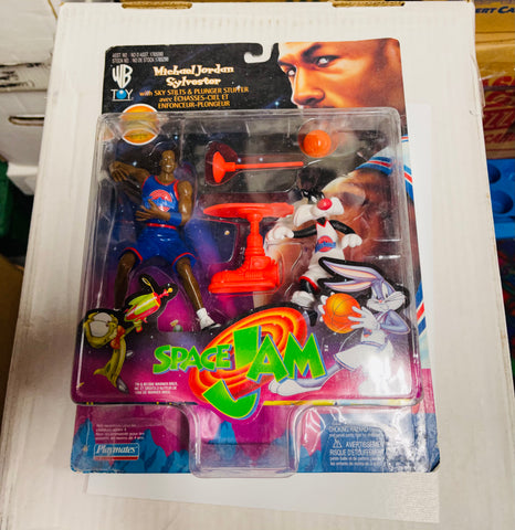 Michael Jordan Space Jam rare factory sealed toys in package 1996