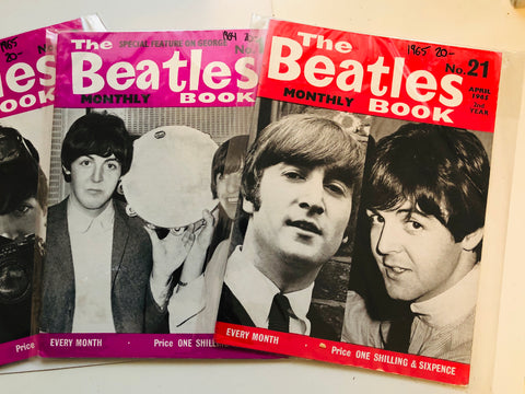 Beatles Monthly magazine 4 lot deal 1960s