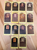 Baseball Hall of Fame 12 signed postcards by legends with COA