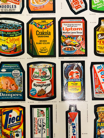Wacky Packages Topps rare uncut card sheet 1979