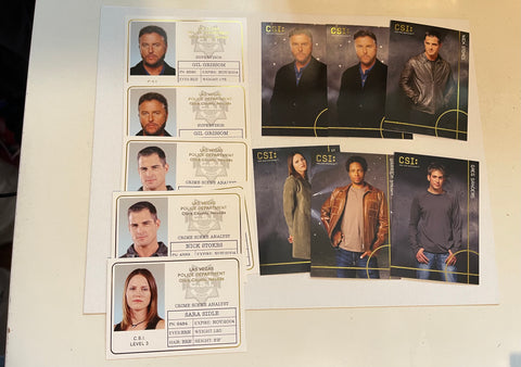 CSI Las Vegas TV show 11 insert cards lot deal 2004