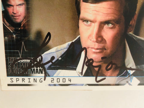 Six Million Dollar Man signed Lee Majors card with COA
