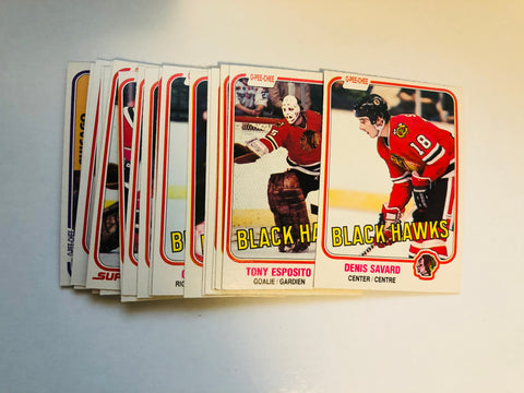 Chicago Black Hawks hockey cards opc team set 1981