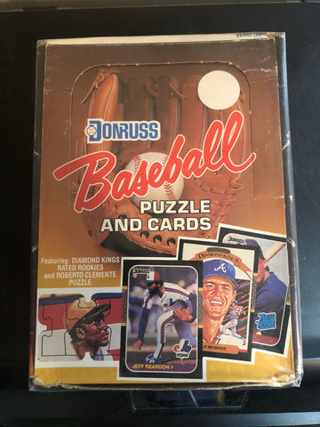 1987 Donruss baseball cards 36 packs box