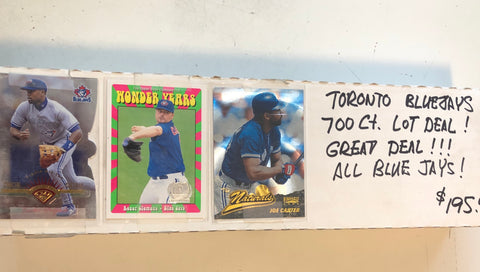 Toronto Blue Jays baseball cards 700 count lot deal !