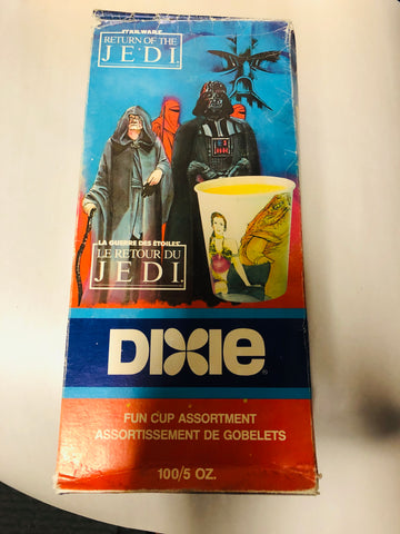 Star Wars Roj Dixie cups full box 1983