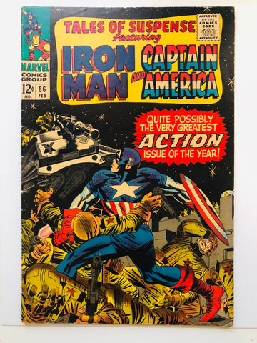 1966 Tales of Suspense Iron Man / Captain America comic